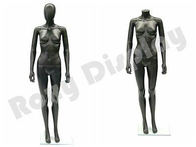 Female Unbreakable Plastic Mannequin Display Egghead Dress Form Sf6bkeg-ps