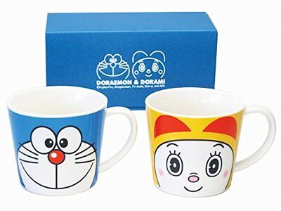 Doraemon 2 mug cups Dora & Dorami set made in Japan New