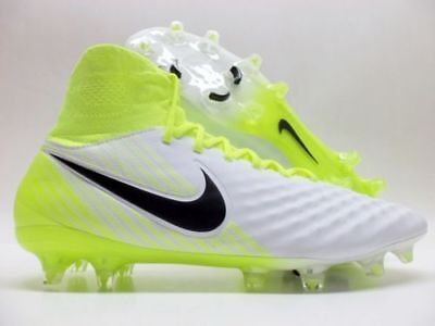 3bea66f91 NIKE MAGISTA ORDEN II FG SOCCER CLEATS SIZE 6 WHITE BLACK VOLT 843812-109