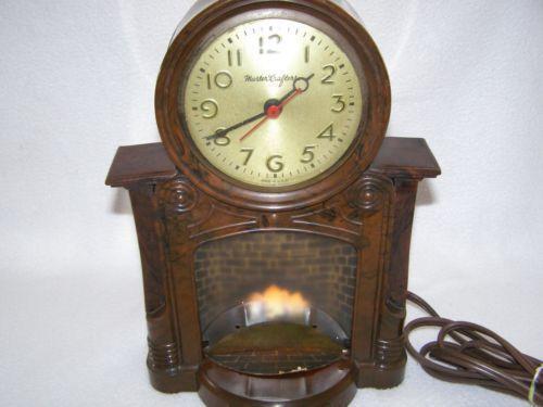 Mastercrafters Fireplace Clock Ebay