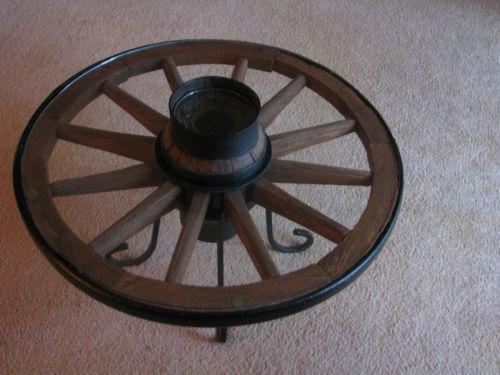 Wagon Wheel Table Ebay