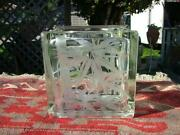 Etched Glass Block