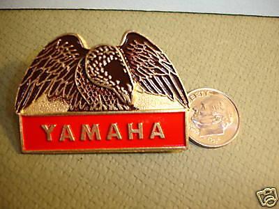 "Vintage Yamaha Eagle Pin Rare Collector New Large 1.75"" FREE SHIPPING Biker"
