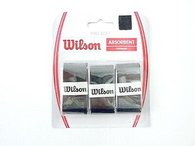 *NEU*3 Wilson Pro Soft Overgrip Griffband schwarz Comfort feel black grip 3er ps