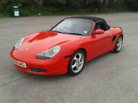 PORSCHE BOXSTER 2.5L, 1997, RED, CONVERTIBLE