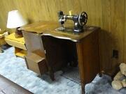 Antique White Sewing Machine
