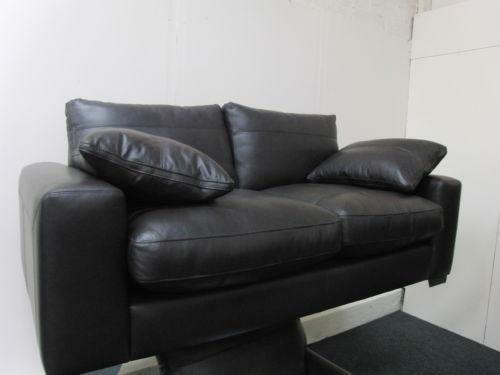 Dfs Brown Leather Sofa Ebay