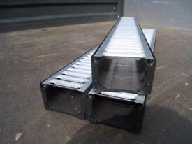 DRIVE & PATIO DRAINAGE GALVANIZED GRATES WITH CAPS AND FILTER FULL KIT 3 METER ECO DRAIN