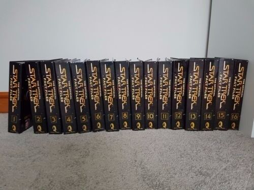 The Official Star Trek Fact Files 1-16 & Encyclopedia-Used condition