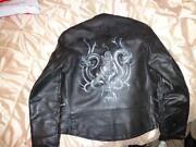 Vintage Mens Leather Biker Jacket