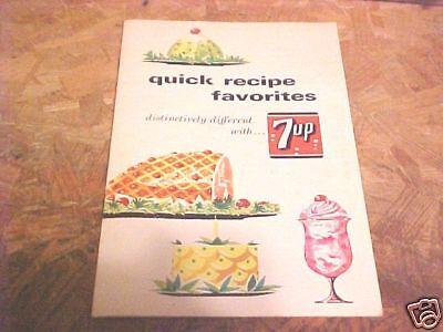 1965 7-UP QUICK RECIPE BOOK FAVORITES