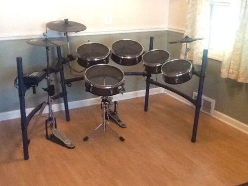 used electronic drum set ebay. Black Bedroom Furniture Sets. Home Design Ideas