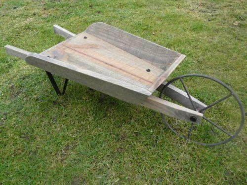 Wooden Wheelbarrow Ebay