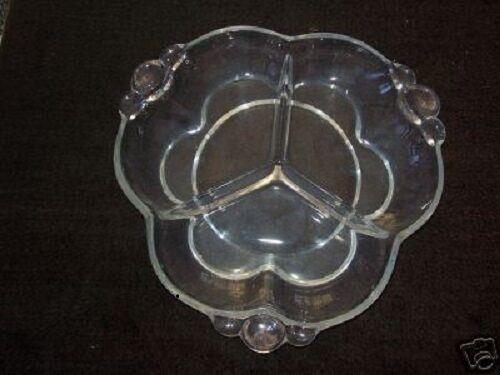 ANTIQUE Glass Canterbury Relish Dish DUNCAN Miller 1937