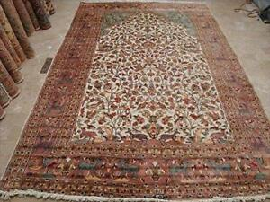 Exclusive Area Rug Tree of Life Peace Birds Rectangle Hand Knotted Carpet Silk Wool (11.8 x 7.1)'