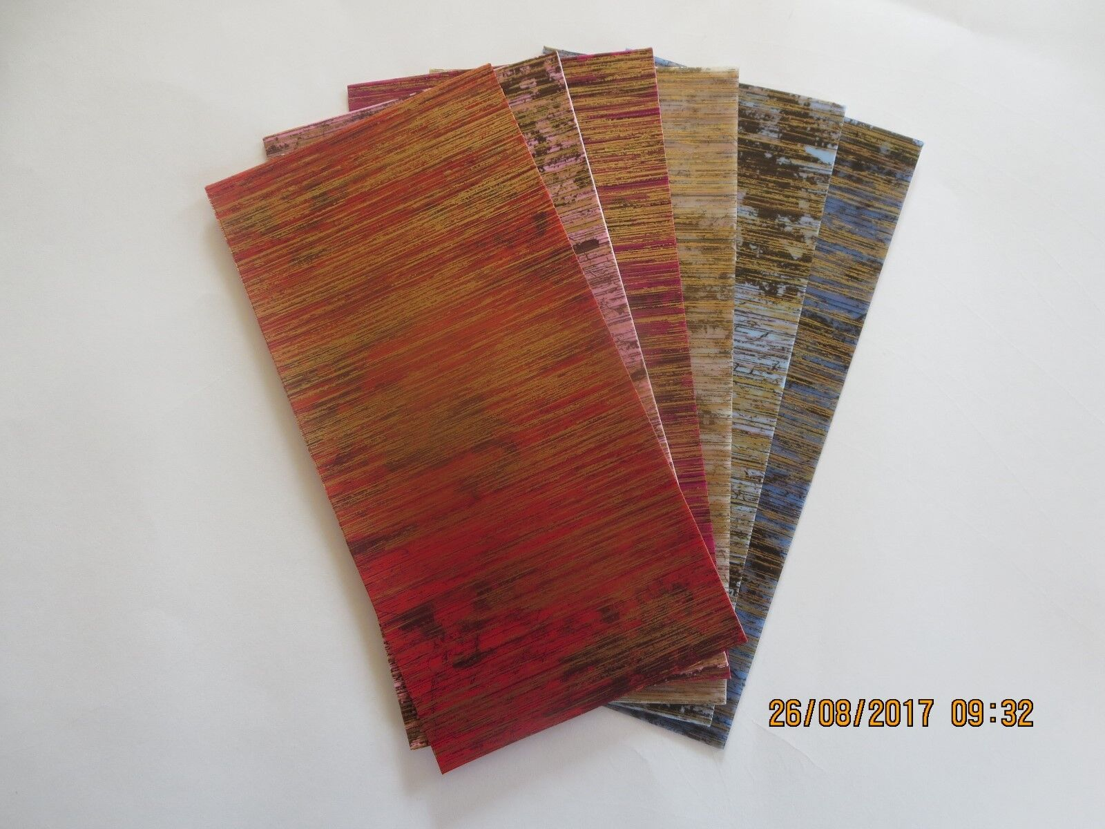 Wachsplatte, Verzierwachs, Wachspl. marmoriert, Wachspl. m. Muster, versch. Farb