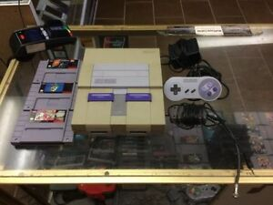 SNES SUPER NINTENDO BUNDLE GREAT PRICE MARIO WORLD DONKEY KONG