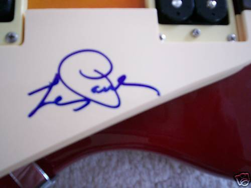 LES PAUL SIGNED GUITAR LES PAUL SUNBURST STANDARD PROOF! COA AUTOGRAPHED