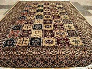 Bakhtiar Jaal Fine Rectangle Area Rug Hand Knotted Wool Silk Carpet (6 X 4)'