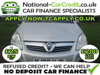 Vauxhall Zafira 1.8 i 16v Elite 5dr Good / Bad Credit Car Finance (silver) 2008