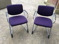 12 QULAITY NEW CHROME AND PURPLE CHAIRS