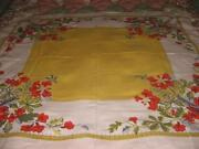 Vintage Tablecloth Orange