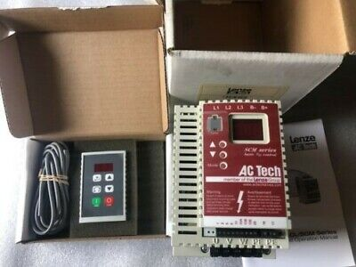 Lenze Ac Tech Sm450 Vfd Frequency Motor Drive Inverter 5hp With Remote Keypad