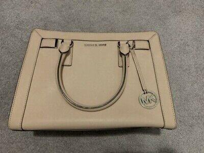 Michael Kors MK Dillon Small Saffiano Leather Satchel Handbag Purse Pink