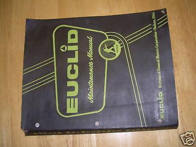 Euclid Dump Truck Rock 10-11 Maintenance Service Manual