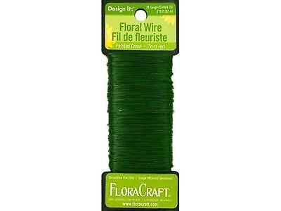 Floral Wire Paddle 26 Gauge Green 270' by Floracraft for Wreaths Florists Crafts