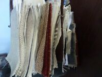 job lot of material swatches various colours ideal for craft/quilting