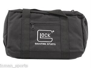 NEW! Black GLOCK Single Pistol Gun Handgun Range Bag Case AP60211 EMBROIDERED