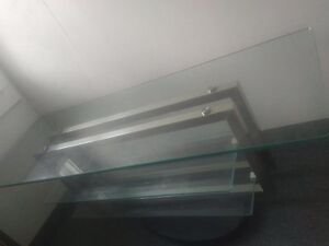 MODERN GLASS TELEVISION STAND - GREAT CONDITION!!