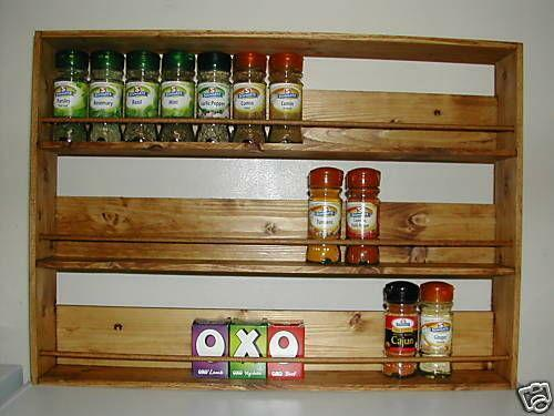 Wooden Spice Rack Ebay