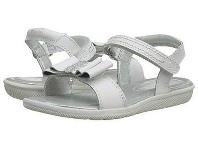 NIB STRIDE RITE Sandals Meena White Bow 9 10 11.5 12