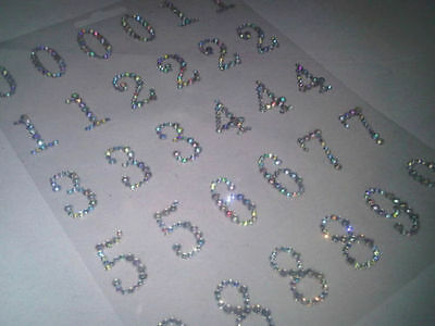 CraftbuddyUS 30 Diamante Numbers Self Adhesive Gems Crystals 123 Rhinestones  - Adhesive Numbers