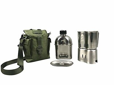 Jolmo Lander Military Canteen Cookware Set Camping Canteen Mess Kit Stainless...