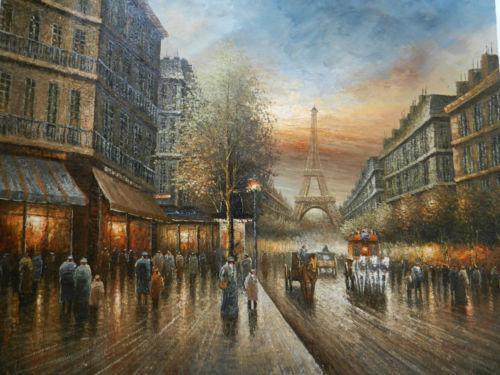 Paris Street Scenes Oil Paintings Ebay