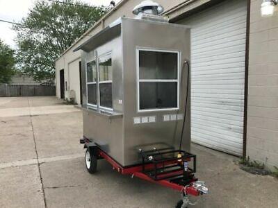 4x8 New Concession Food Trailer Custom Trailers Hot Dog Cart Coffee Cart