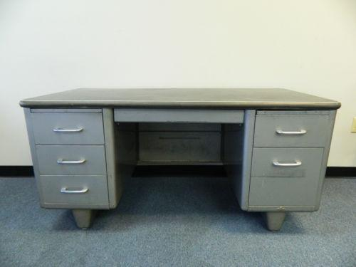 - Vintage Metal Desk EBay