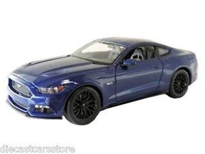 ... MAISTO 2015 FORD MUSTANG GT 5.0 BLUE 1/18 DIECAST CAR MODEL 31197BL