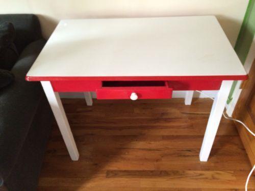 Vintage Enamel Top Table Ebay