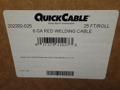 Quickcable 6 Ga Red Welding Cable New Old Stock Nos Unused