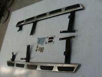 Side Steps for AUDI Q5 OEM Style Stainless Steel + Rubber Padded Side Steps Running Boards Side Bars