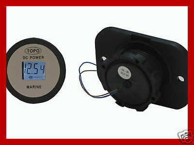 Waterproof 12 Volt Dc Voltmetergauge For Marineboat4wdmotorcyclervdiyauto