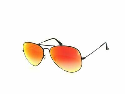 Ray Ban  3025 002/4W 58 Black Mirror Gradient Mirror Sale Aviator (Mens Ray Ban Aviator Sunglasses Sale)