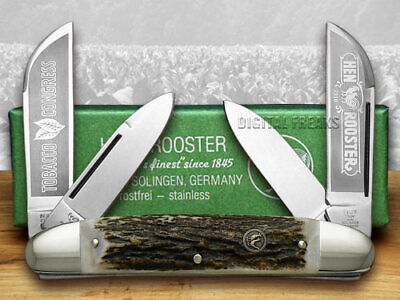 Hen & Rooster Large Congress Knife Tobacco Deer Stag 224-DS/TC