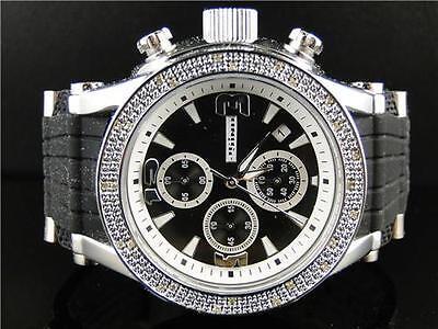 Herren Jojo / Jojino / Joe Rodeo Aqua Master Gummi 25 Diamant Armbanduhr (Jojino Uhren)