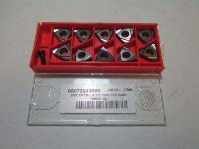 Lot Of 10 Carmex 09073243669 Carbide Threading Inserts New