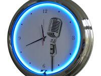 N-0308 Shure Sh55 - Decoración Neón Reloj Clock De Pared Neon Taller -  - ebay.es